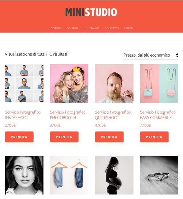 Servizi Fotografici professionali Mini Studio Roma